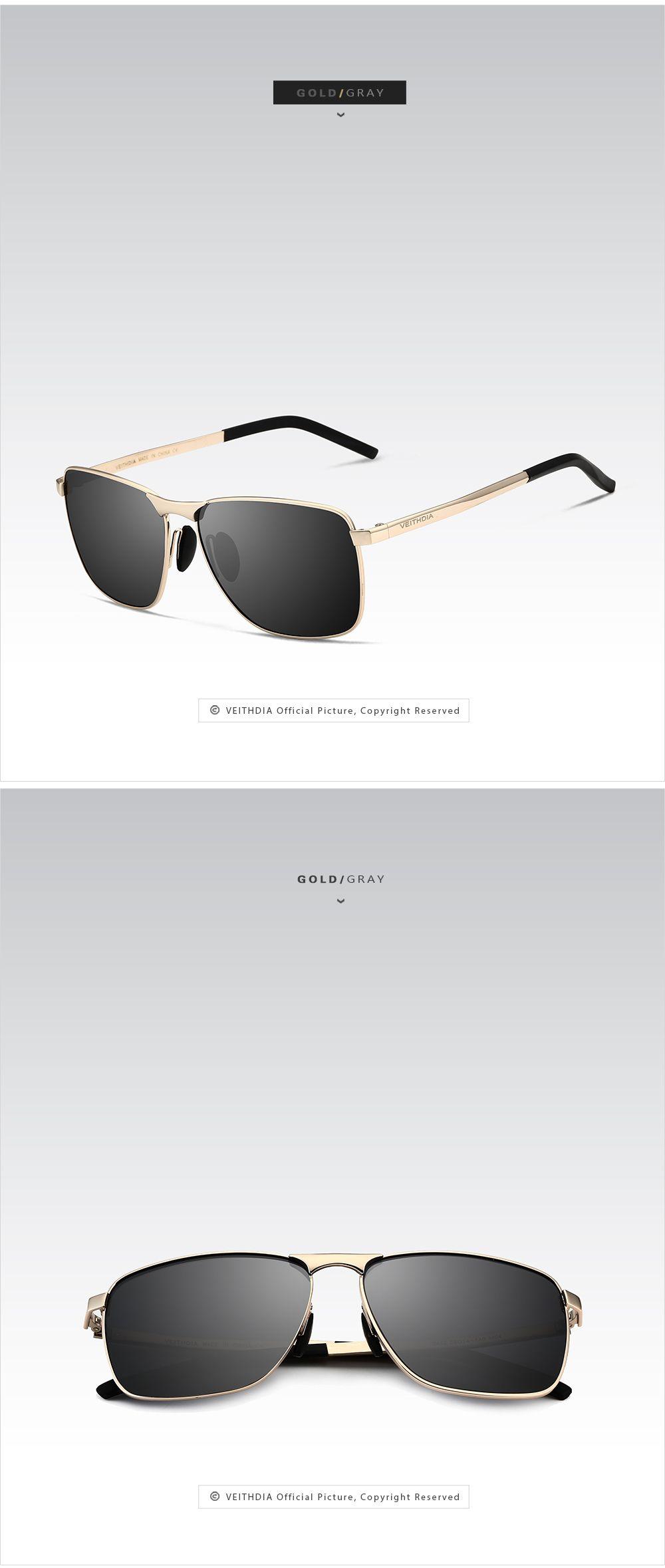 f750f58718 VEITHDIA Brand Men s Vintage Square Sunglasses Polarized UV400 Lens Eyewear  Accessories Male Sun Glasses For Men Women V2462