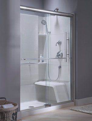 This Sterling Accord Shower Features A Wide Shower Seat Which Can