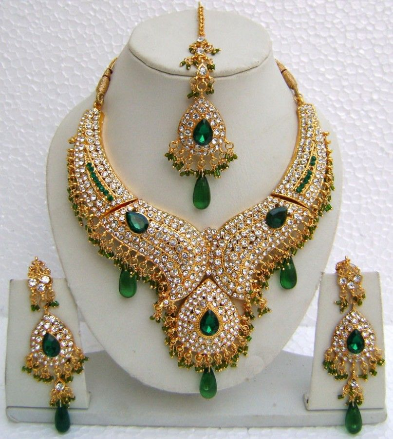 Artificial Bridal Jewellery Sets: N10895 Designer Artificial Jewellery Necklace Set Tika In