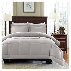 Belford Microcell Down Alternative Comforter Set Grey