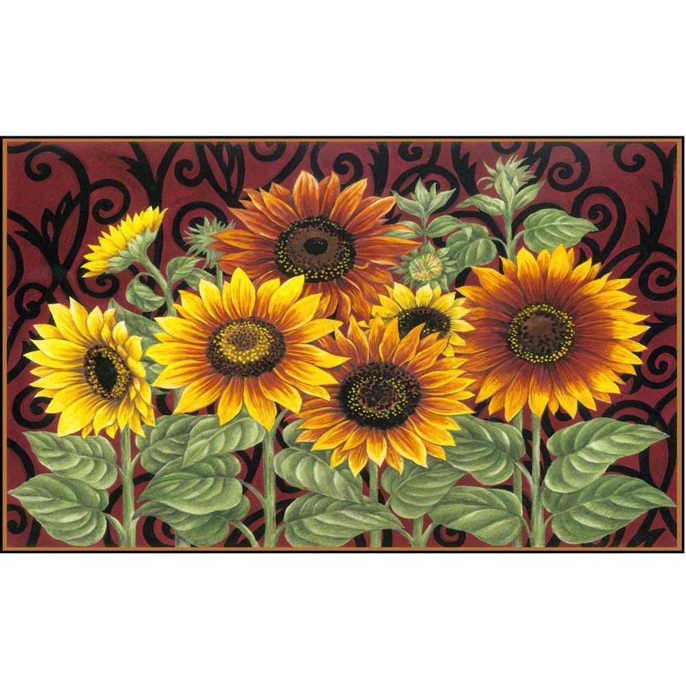 Sunflower Medley Doormat Sunflower Art Sunflower Painting Sunflower Home Decor