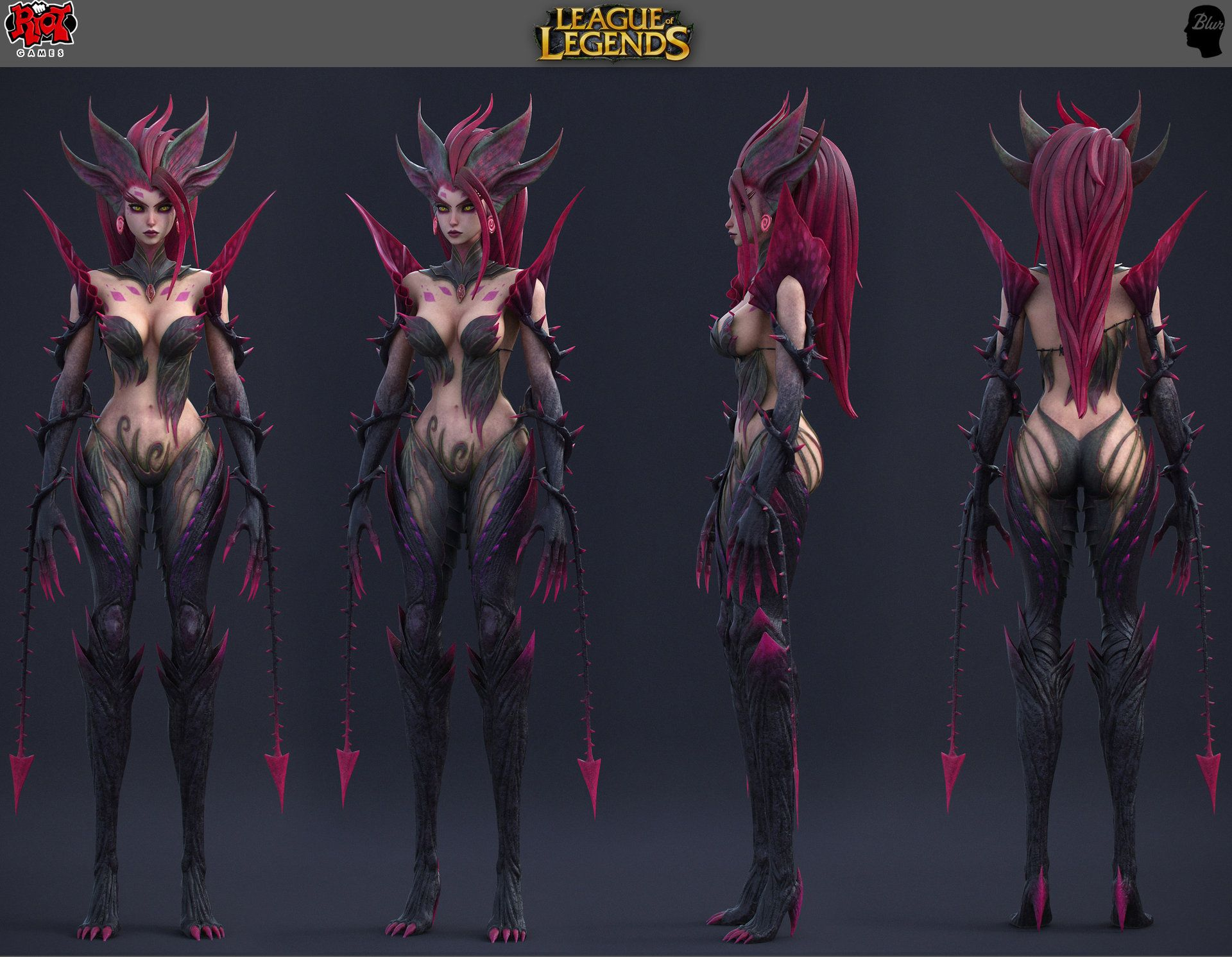 Xayah Character Design : Artstation league of legends zyra nicolas collings d