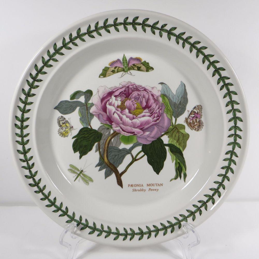 Portmeirion Botanic Garden Dinner Plate Shrubby Peony Paeonia