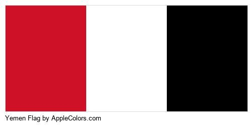 Country Flag Black Country Flags White Yemen Red #ce1126 #ffffff #000000