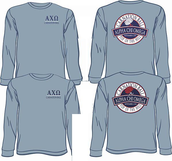 Alpha Chi Omega Philanthropy Tshirts  email red@theredtshirtco.com for a proof and pricing *Ships to North Carolina FREE of charge.  http://theredtshirtco.com/inquire/  #alphachiomega #philanthropy #carnationball #greeklife #comfortcolors #sorority #theredtshirtco