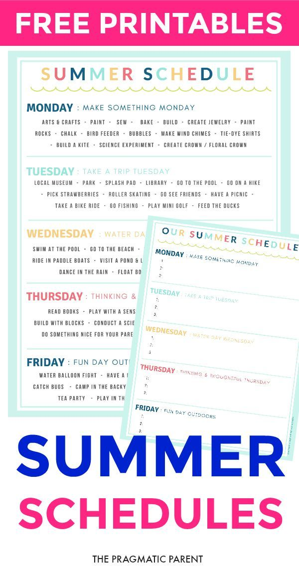 Creating a Summer Schedule for Kids: Set Up a Successful Summer Break