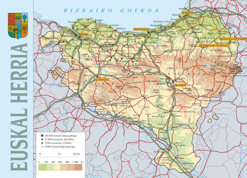 Mapa Fisico De Euskal Herria Para Imprimir.Euskal Herria Mapa En 2019 Mapas Dibujos Y Libros
