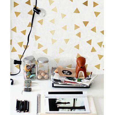Sticker mural triangles Surdic Déco accessoires Pinterest - Poser Papier A Peindre