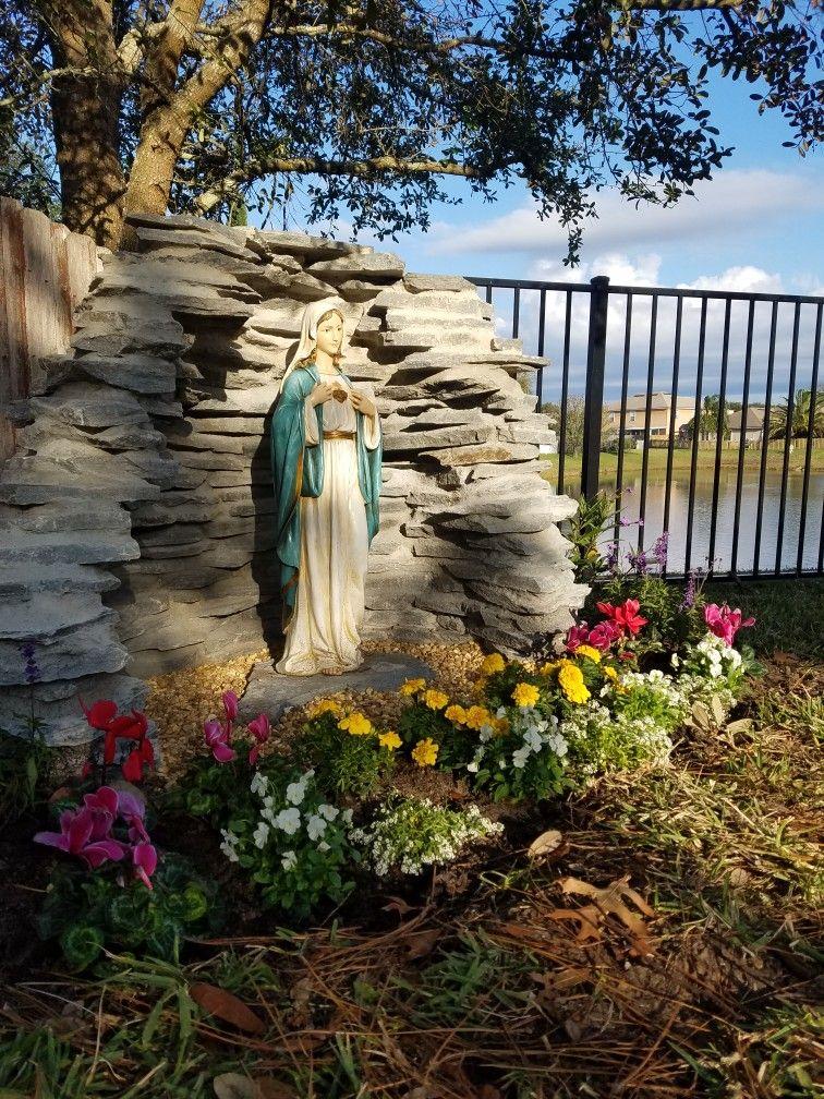 My Backyard Mary Shrine Grotto Design Prayer Garden Meditation Garden