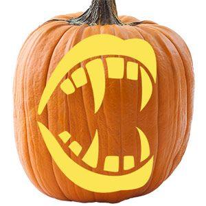 pumpkin template with fangs  Fangs pumpkin | Halloween pumpkin stencils, Pumpkin stencil ...