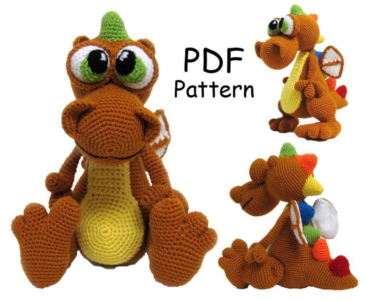 Crochet toy pattern -Dragon | Häkeltiere und Drachen