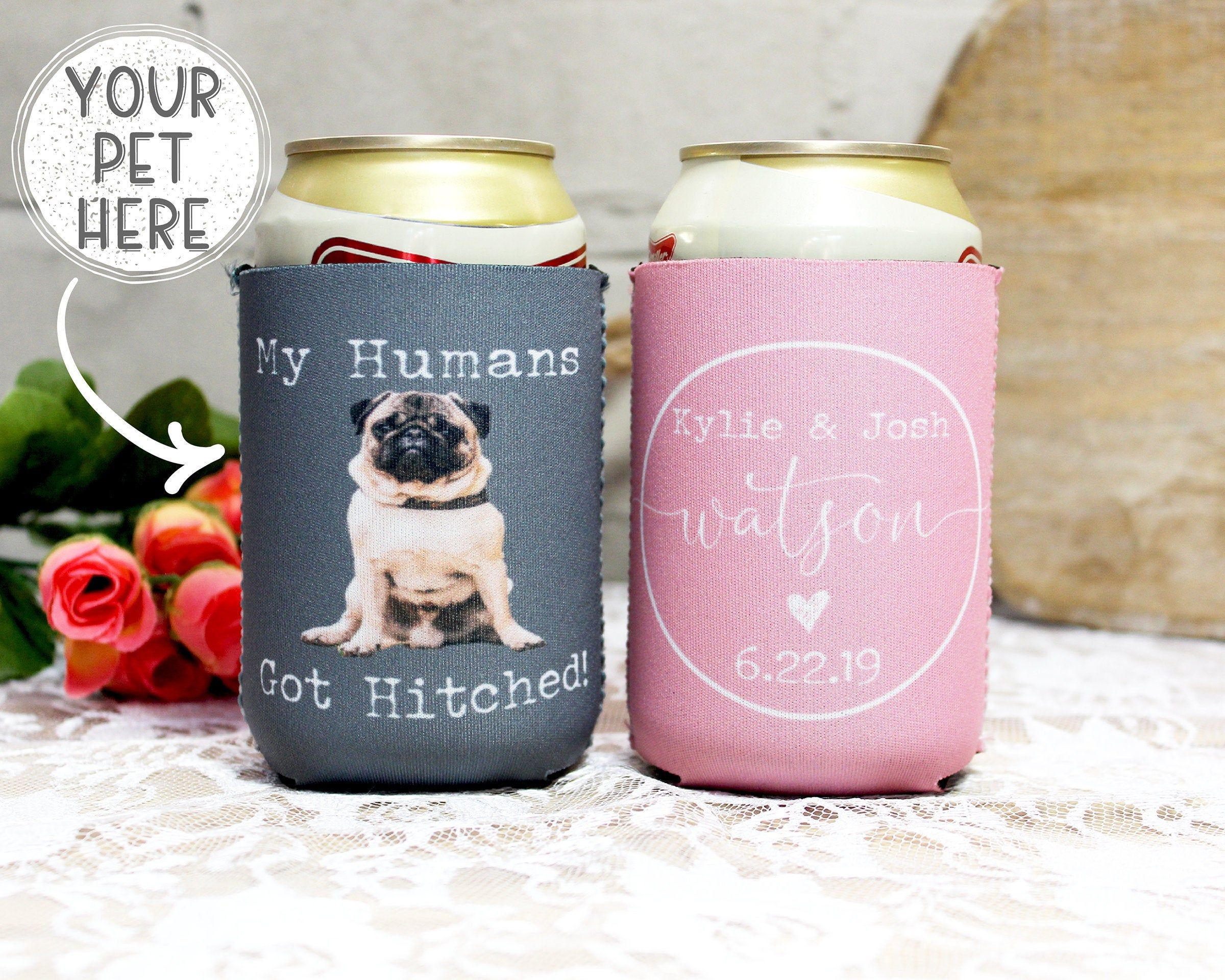 Personalized Wedding Can Coolers Down To Fiesta Personalized Wedding Favors Funny Custom Wedding Full Color Neoprene Can Coolers