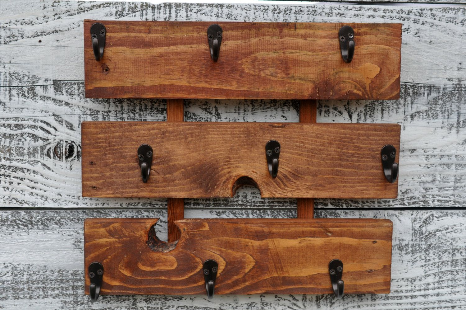 Coffee Cup Holder, Rustic Coffee Cup Rack, Kitchen Coffee Cup Holder, Wall  Hanging