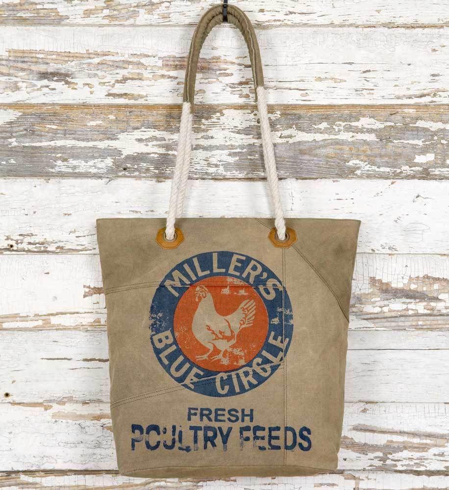 Feed Sack Tote Bag