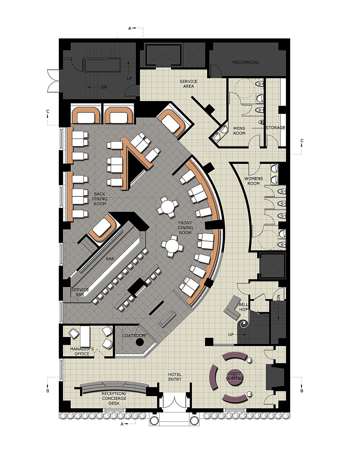 Hospitality Design Sara Audrey Small Archinect Restaurant Architecture Restaurant Plan Restaurant Floor Plan