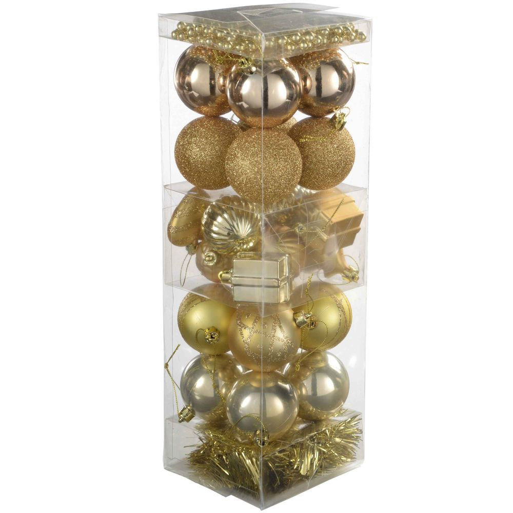 28 Deluxe Variety Christmas Tree Baubles Decoration Pack