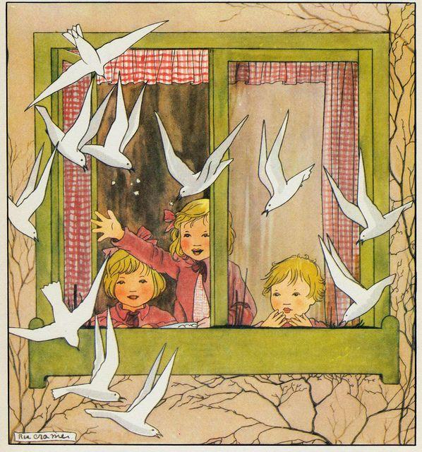 Rie Cramer Het jaar rond editie 1978, - meeuwen