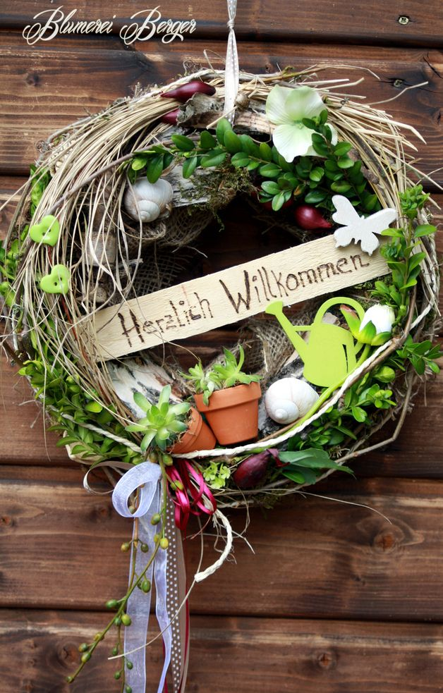 Photo of Door wreaths – :::: Door wreath Welcome 3.0 :::: – a designer piece of …