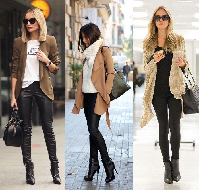 Look vestido preto justo, jaqueta jeans e bota cano curto