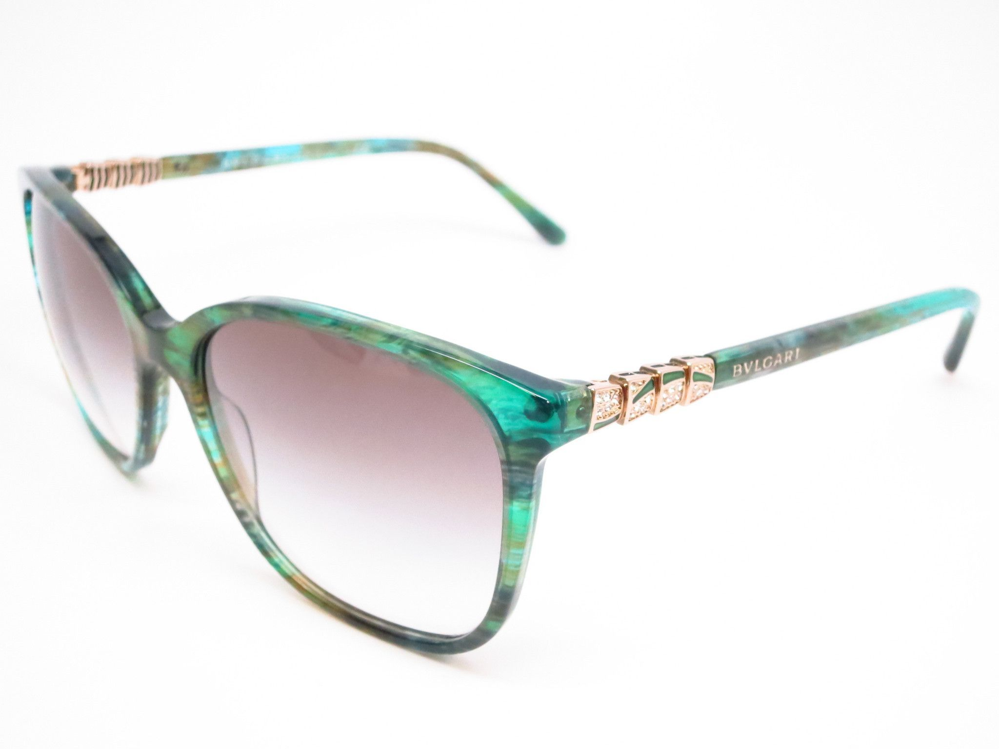 4071fd17d2 Bvlgari BV 8152B 5340 8E Green Aqua Fantasy Sunglasses