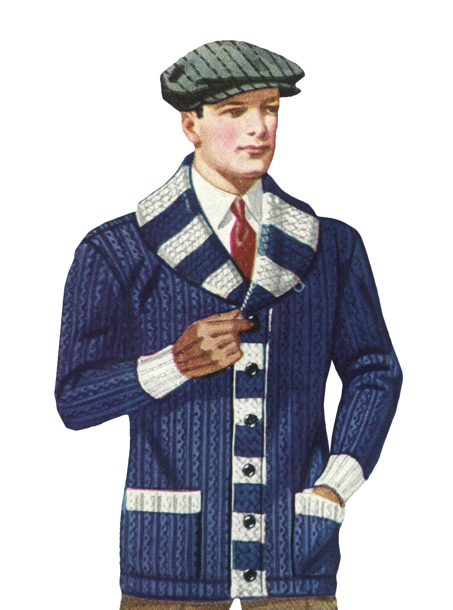 1920s Mens Sweaters, Pullovers, Cardigans