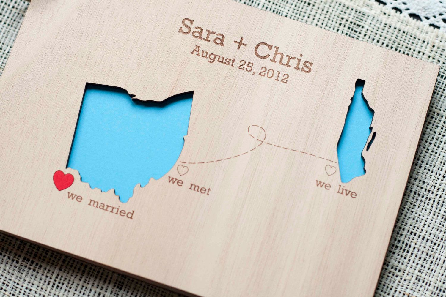 Ideas about map wedding invitation on pinterest - Custom Wedding Guest Book Wood Rustic Wedding Guest Book Album Bridal Shower Engagement Anniversary States