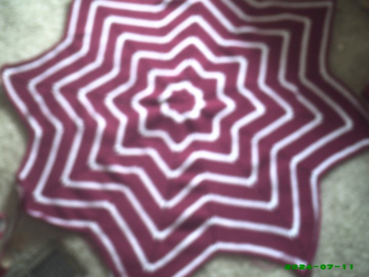 Round Ripple Afghan Afghans Round Ripple 8 Point Crochet