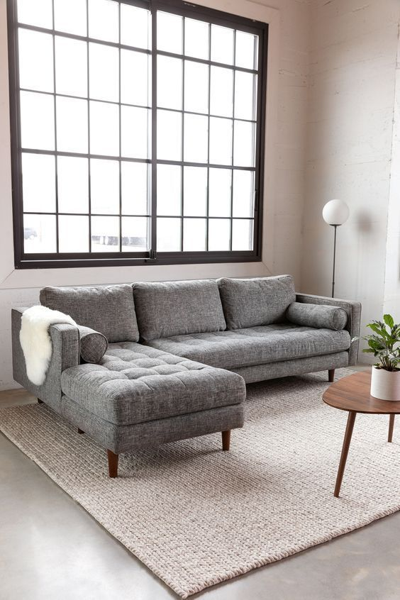 Sven Briar Gray Left Sectional Sofa In 2020