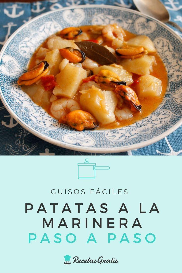 Patatas A La Marinera Receta Paso A Paso Recetas Con Patatas Faciles Recetas Con Patatas Guiso De Pescado