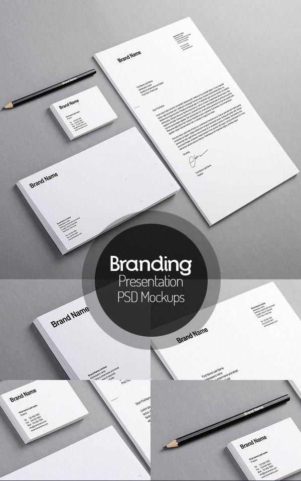 branding identity mock-up | mockup templates for designers, Presentation templates