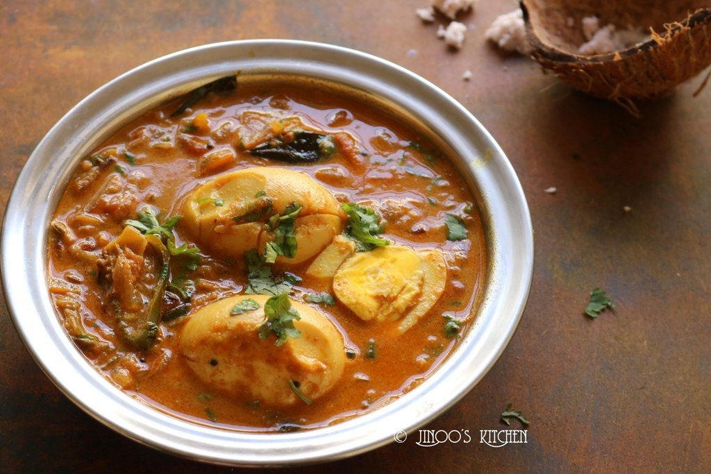 Egg curry recipe with coconut milk Recipe Curry
