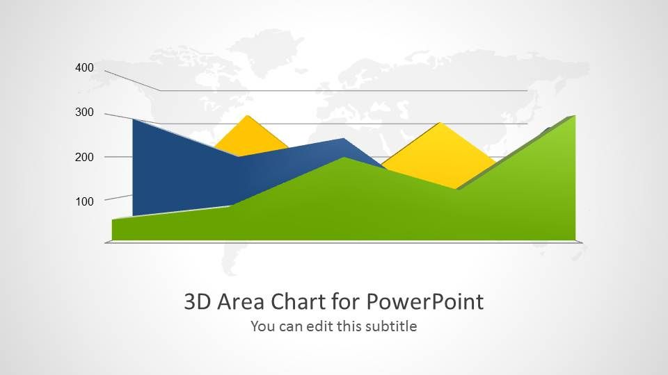 3D Area Chart for PowerPoint Presentations Pinterest
