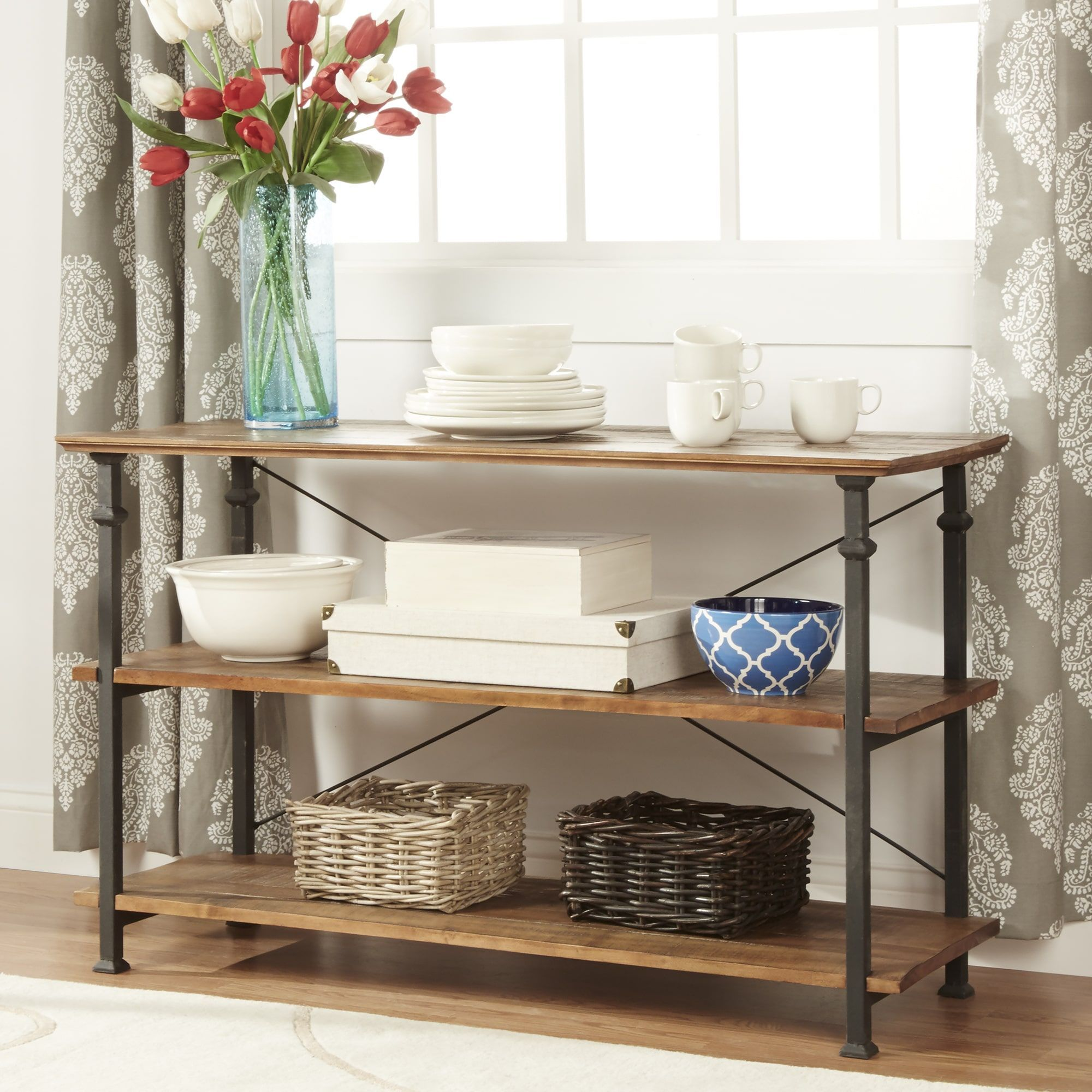 Myra Vintage Industrial TV Stand Entryway Table by iNSPIRE Q Classic