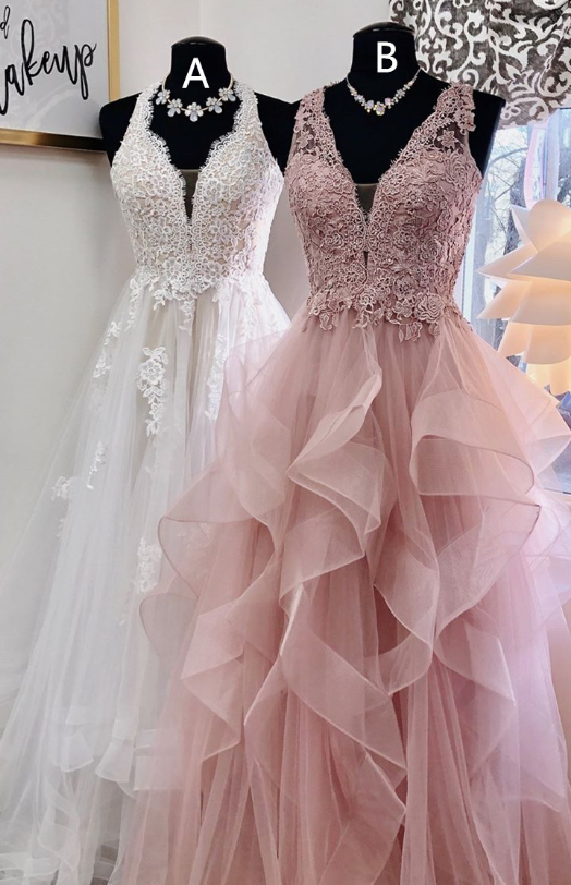 223d35603f9 Princess A-line White Pink Long Prom Dress from wendyhouse in 2019 ...