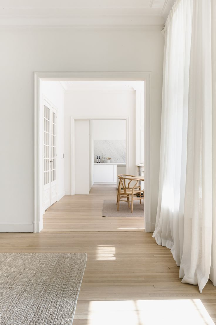 Minimalist White Living Space
