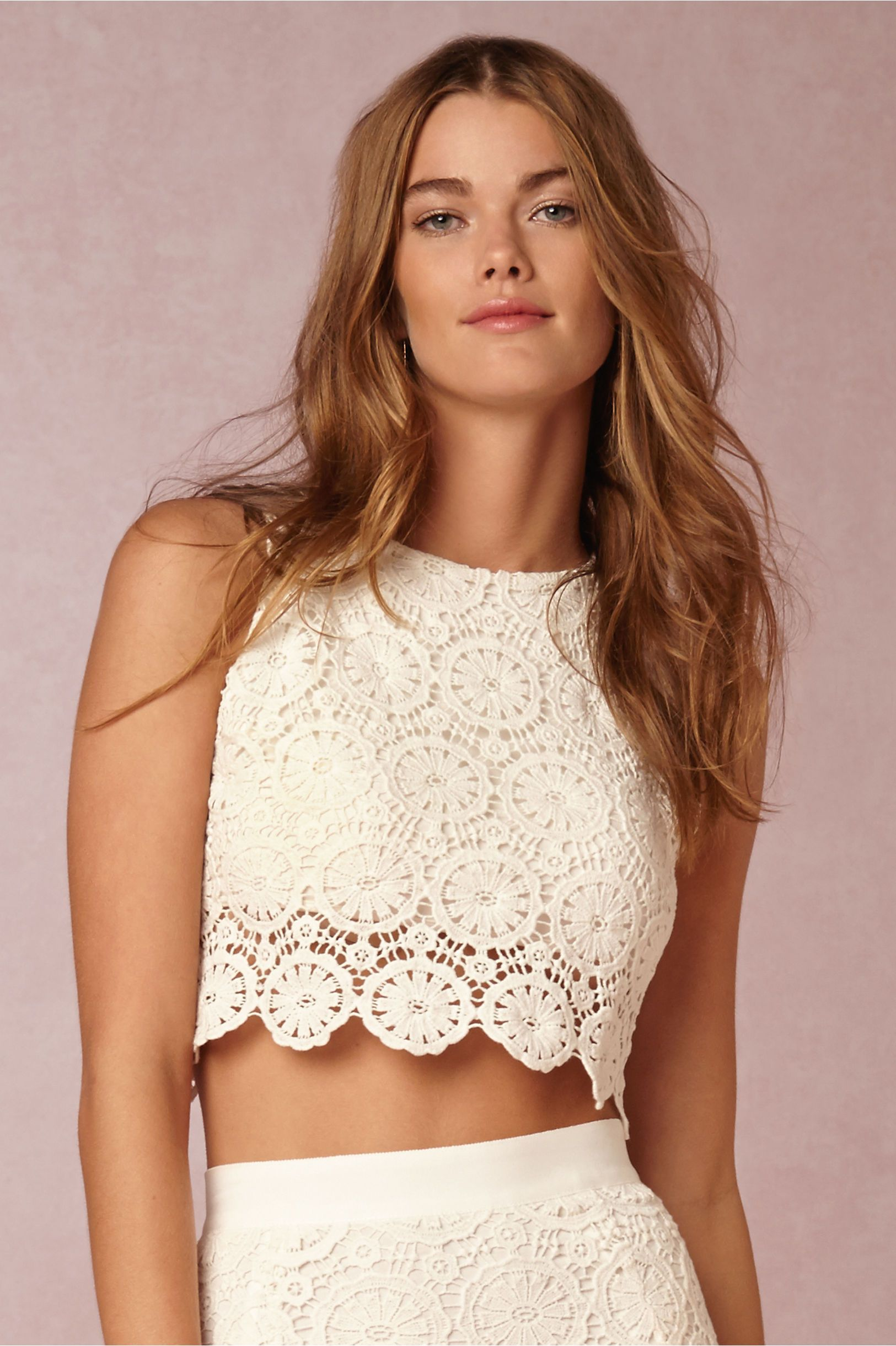 Roza Crop Top and Pencil Skirt in Bride Reception Dresses