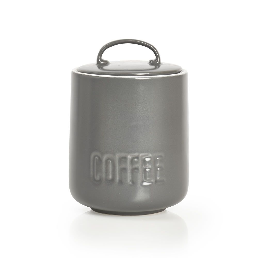 Wilko Utility Grey Coffee Canister Coffee Canister
