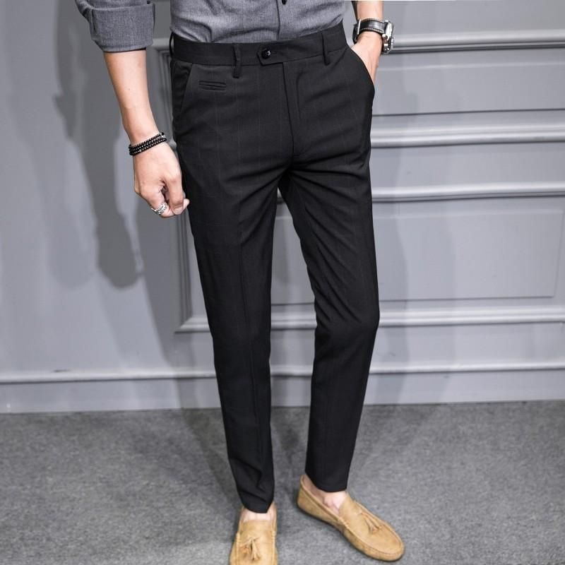NEW Men/'s Dress Formal Business Pants Casual Slim Fit Straight Suit Trousers HOT
