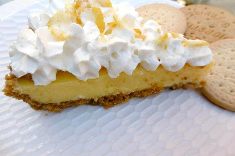 Refreshing Lemon Pie From Foodzesty Kitchen Thyme Digestive Cookies Dessert Recipes Lemon Pie