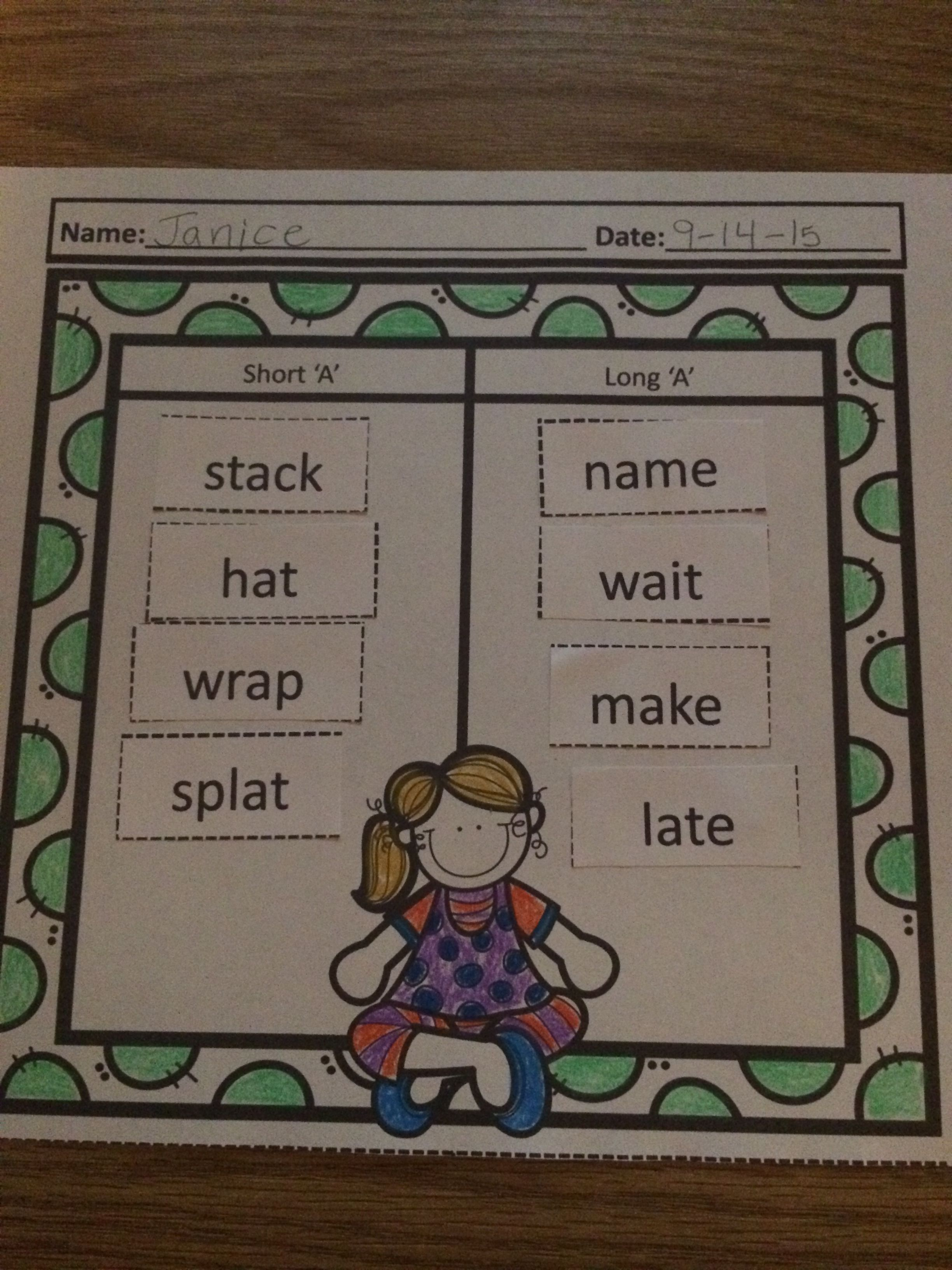 Long Vowel And Short Vowel Sort With Images
