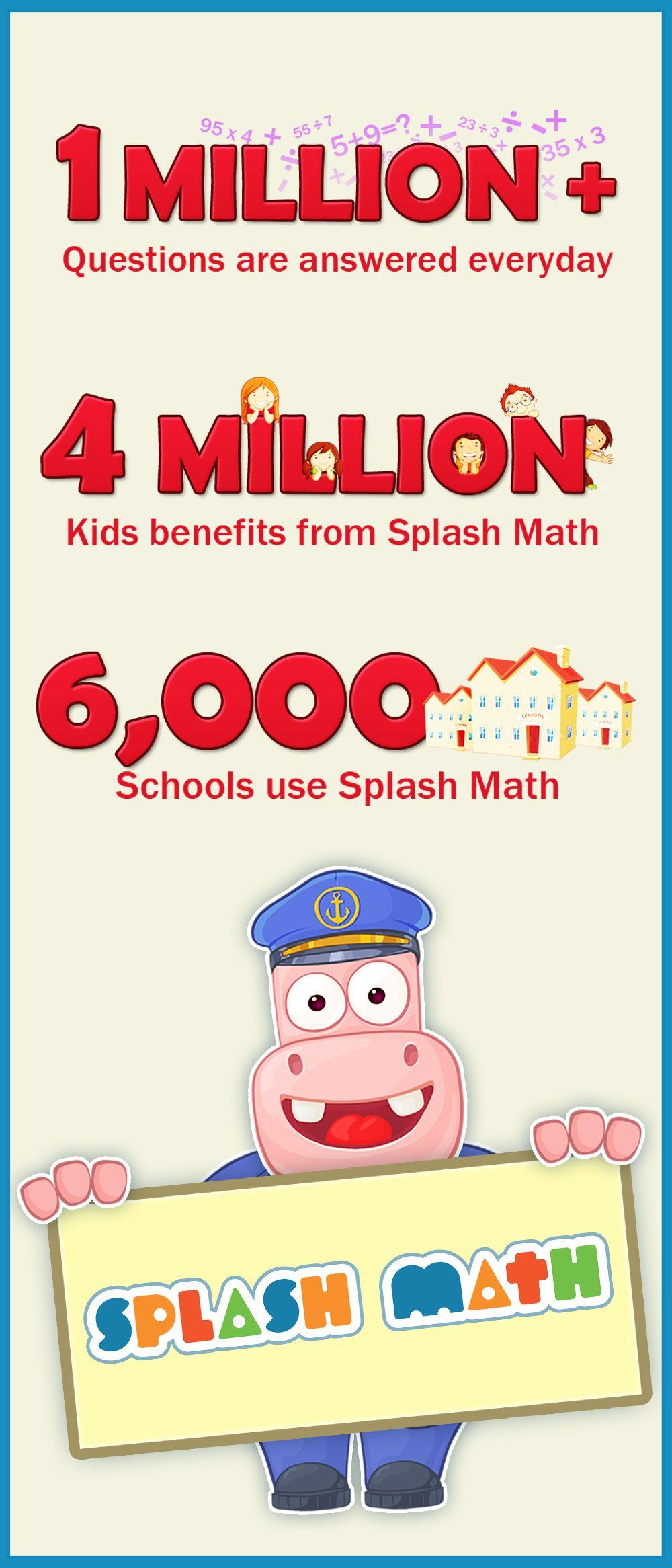 Splash Math Grades 1 to 5. Unlimited fun math practice