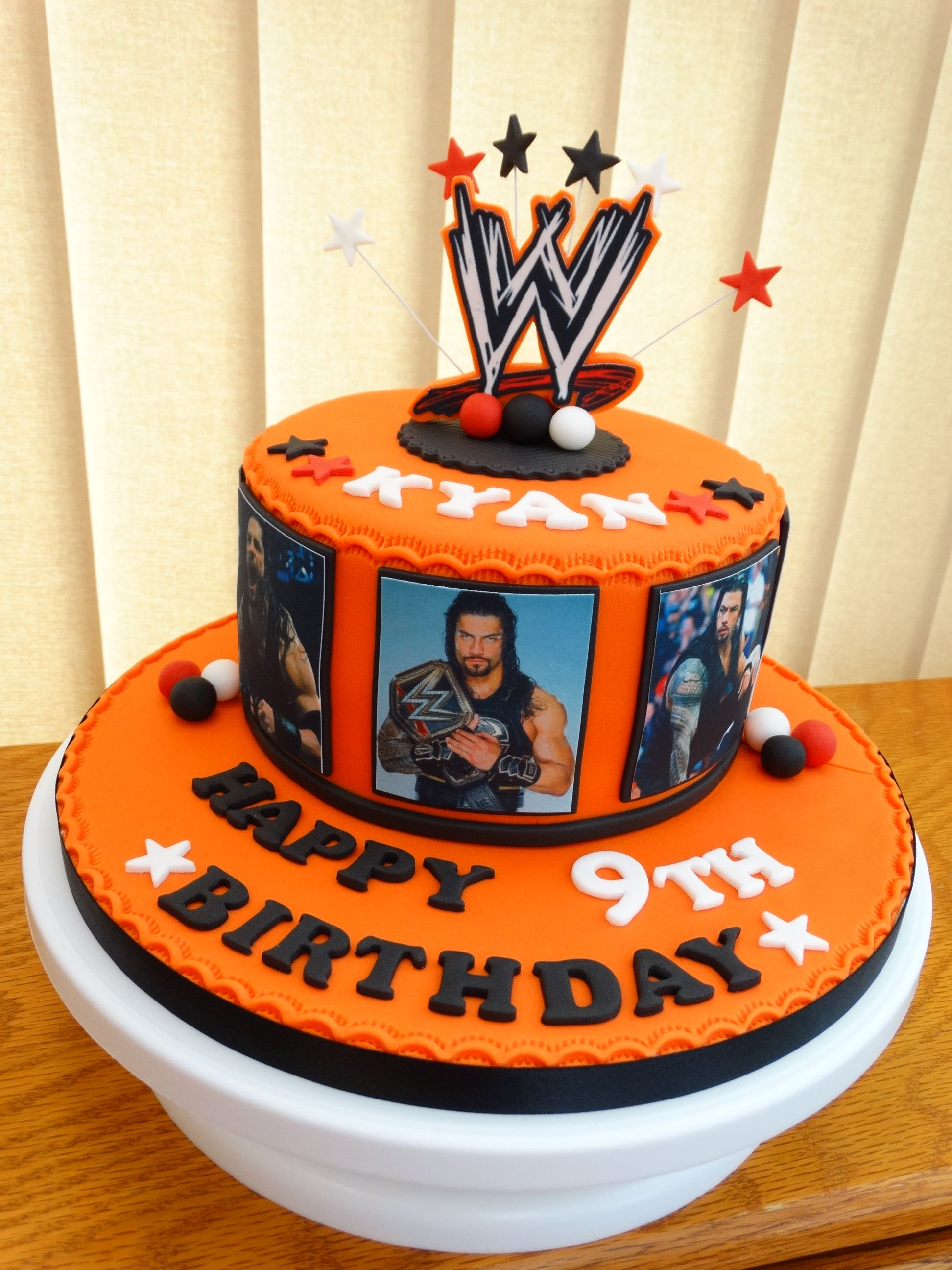 Cool Roman Reigns Wwe Themed Cake Xmcx Wwe Birthday Cakes Wwe Personalised Birthday Cards Paralily Jamesorg