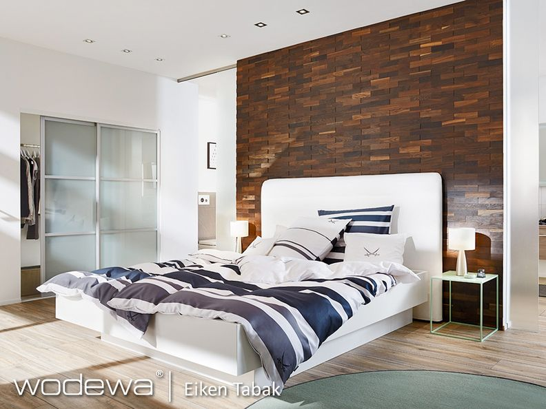 Wandbekleding Hout Slaapkamer : Wodewa d wooden wall covering in a bedroom wodewa d houten