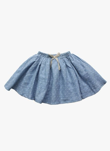 Vierra Rose Vienna Gathered Skirt in Star Chambray - FINAL SALE