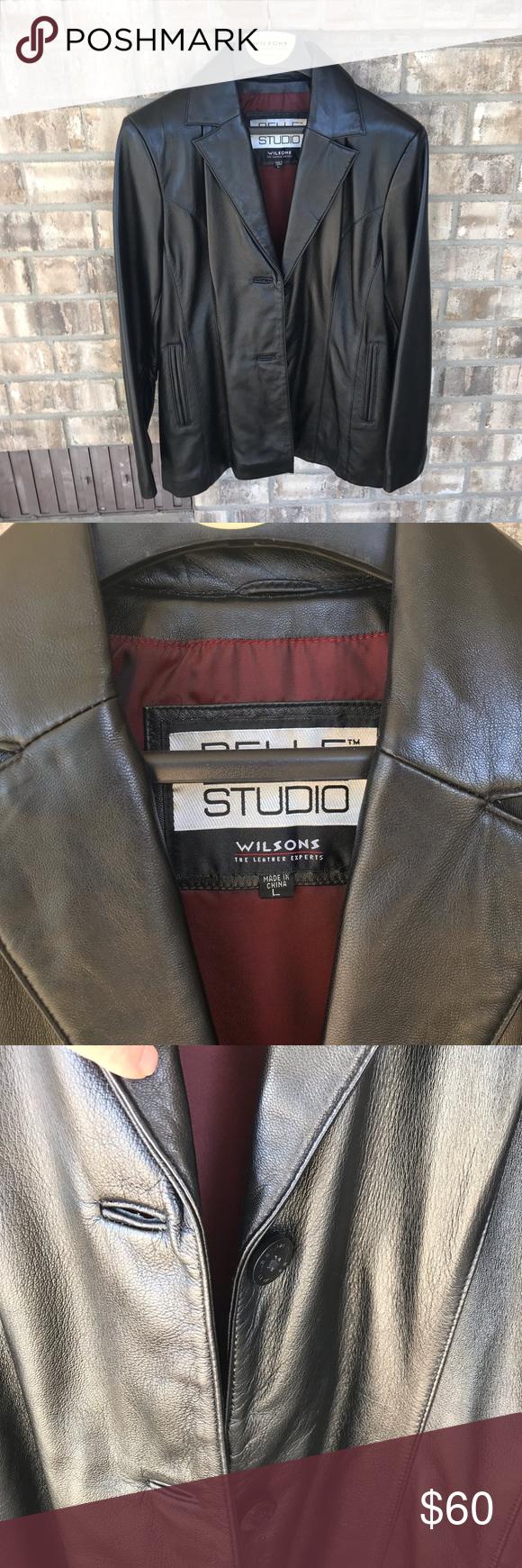 Wilson's leather black jacket Wilson's leather women's