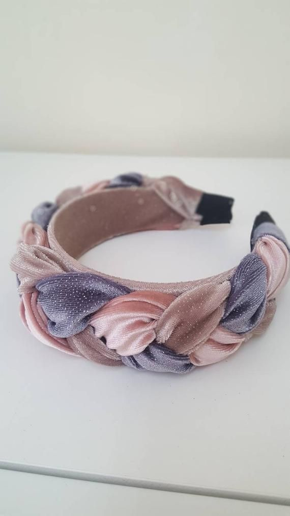 Braided headband, Fascinator headband, Pink headband, Wedding party, Fashion headband, crown headband, Padded headband, Kate middleton style