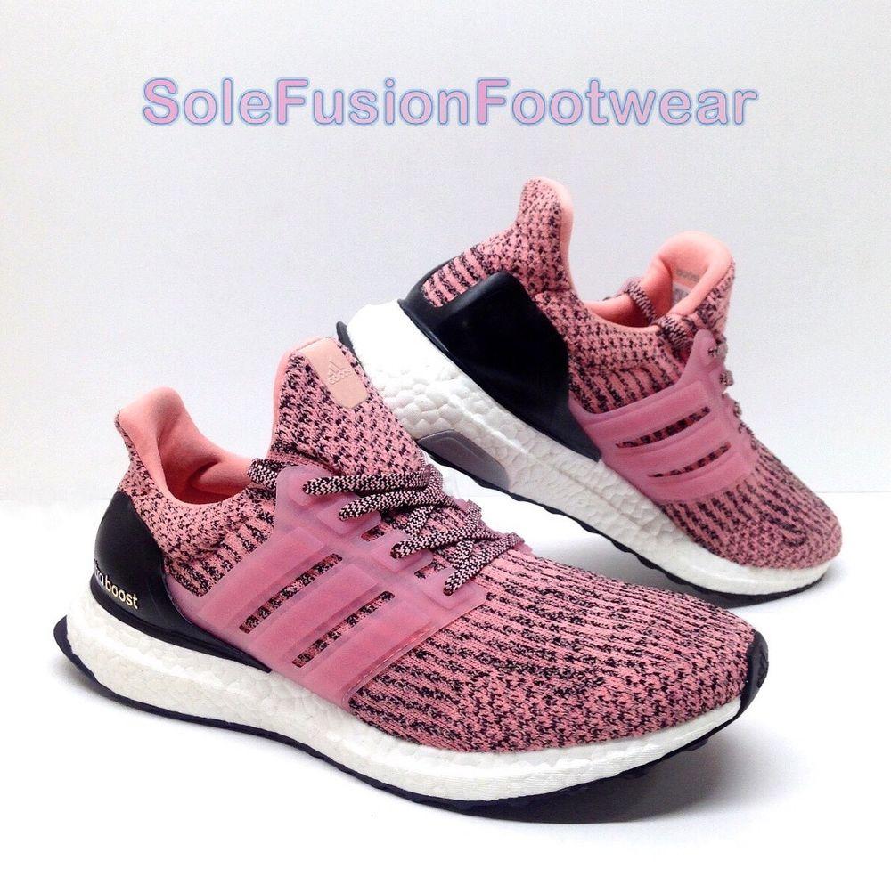 32857f49846e adidas Womens Ultra Boost Running Trainers Pink size 7 PrimeKnit Sun Glow  US 8.5 4057284012829