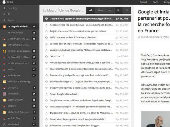 Kouio, un nouveau remplaçant pour Google Reader