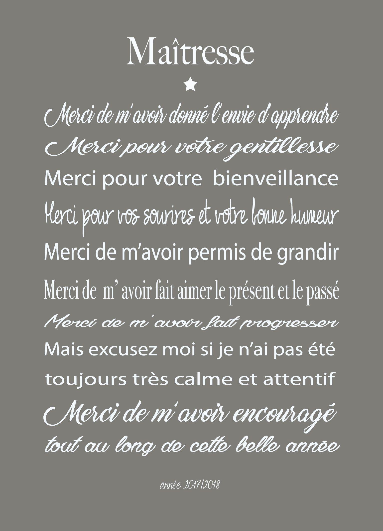 Texte Maitresse Idee Cadeau Maitresse Cadeau Pour Enseignant