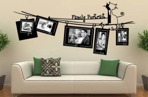 Decorare una parete con le foto idee per arredare con le for Decorazioni per pareti soggiorno